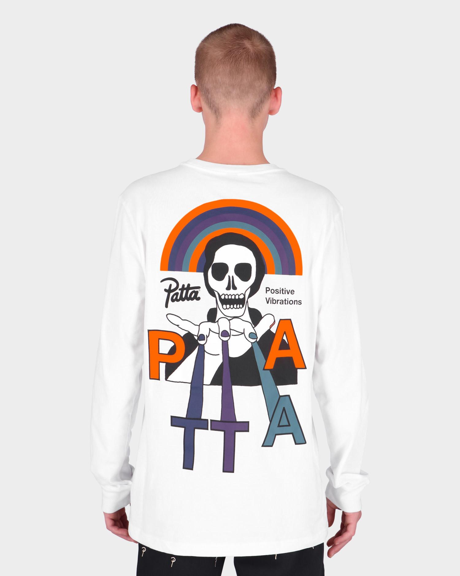 Patta Positive Vibrations Longsleeve T-Shirt White