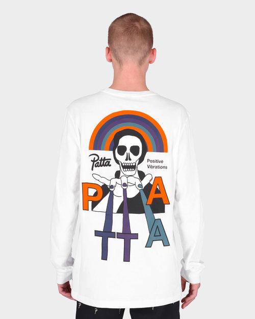 Patta Patta Positive Vibrations Longsleeve T-Shirt White
