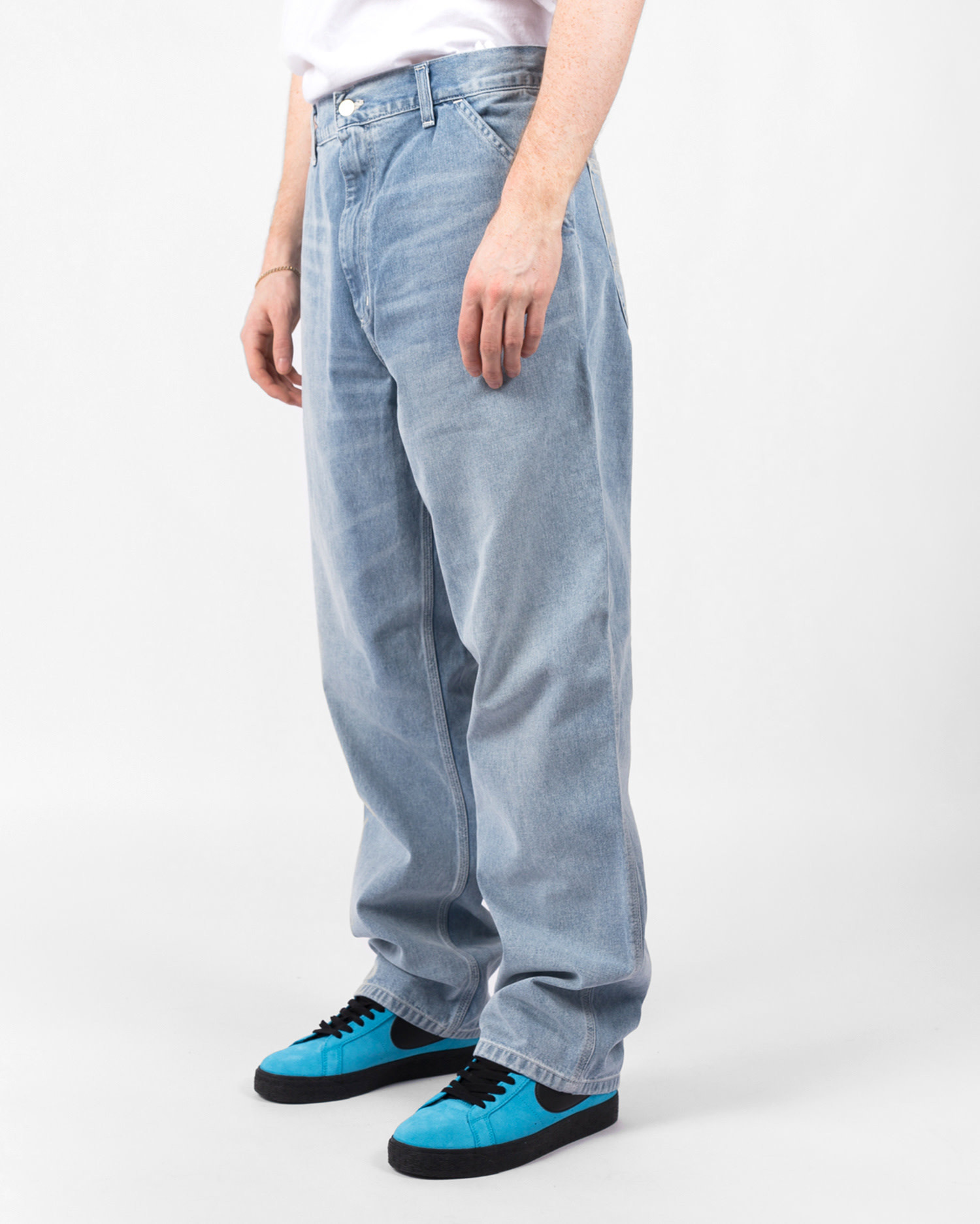 Carhartt Simple Pant Blue Worn Bleached