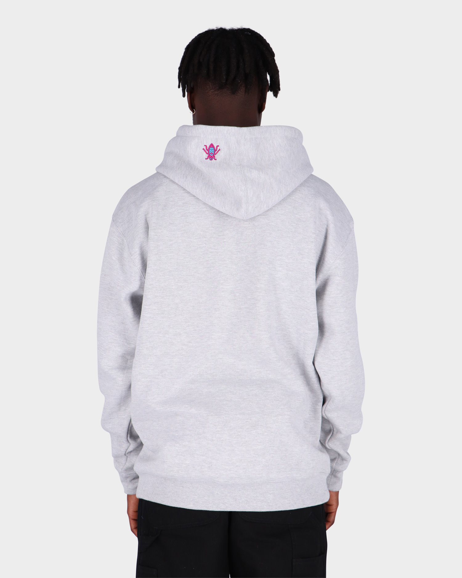 Alltimers Embroidered Bugged Out Broadway Hoodie Heather Grey