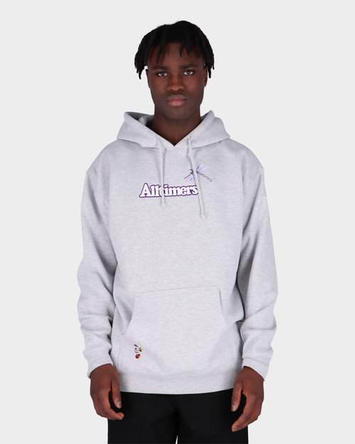 Alltimers Alltimers Embroidered Bugged Out Broadway Hoodie Heather Grey