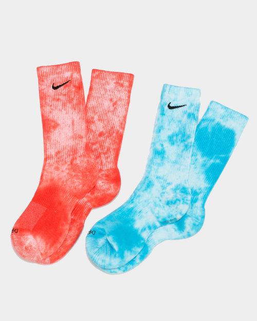Nike Nike Tie-Dye Everyday Plus Socks Red/Blue
