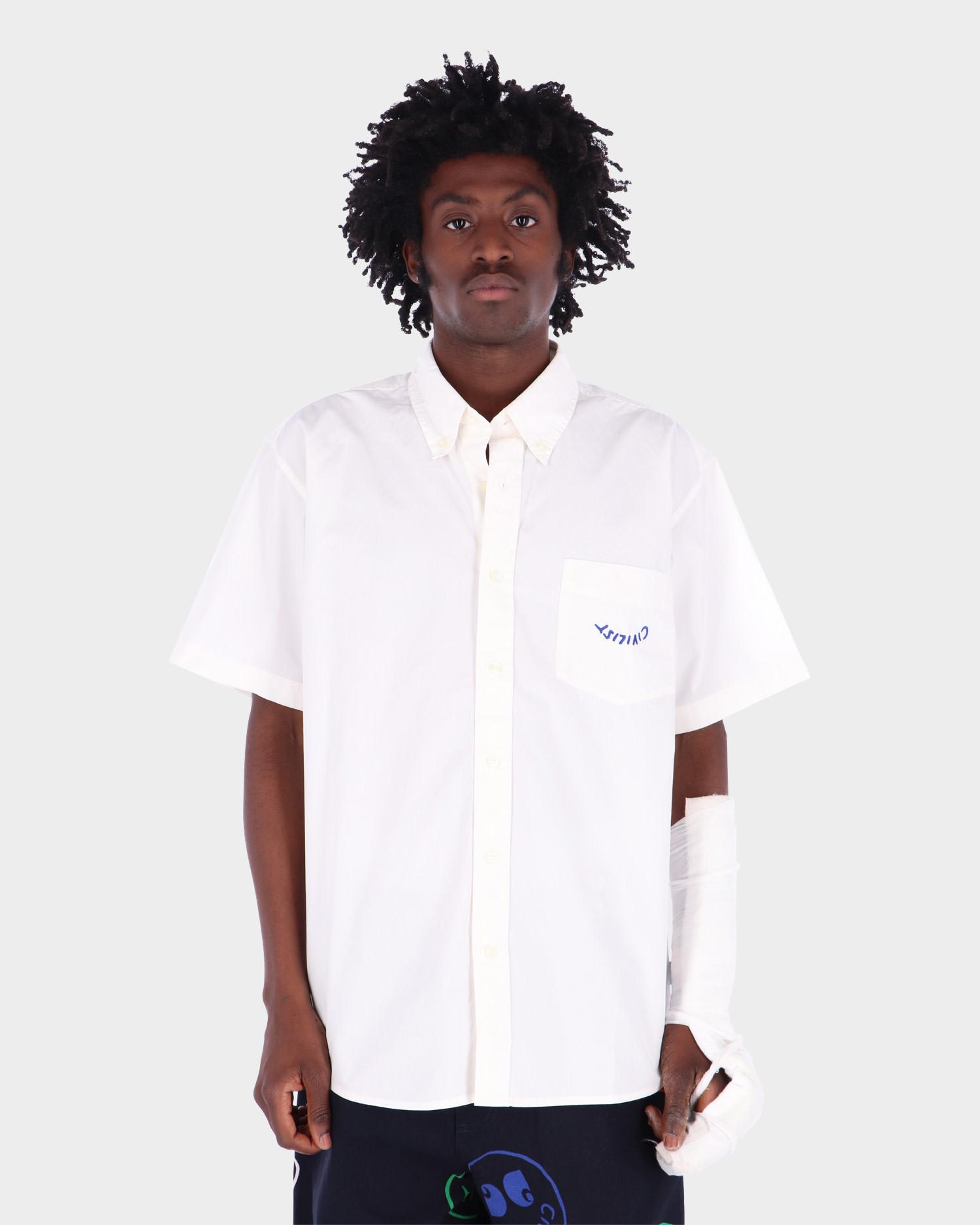 Carhartt x  Civilist Logo Pocket Shirt Cotton Wax/Blue Garme