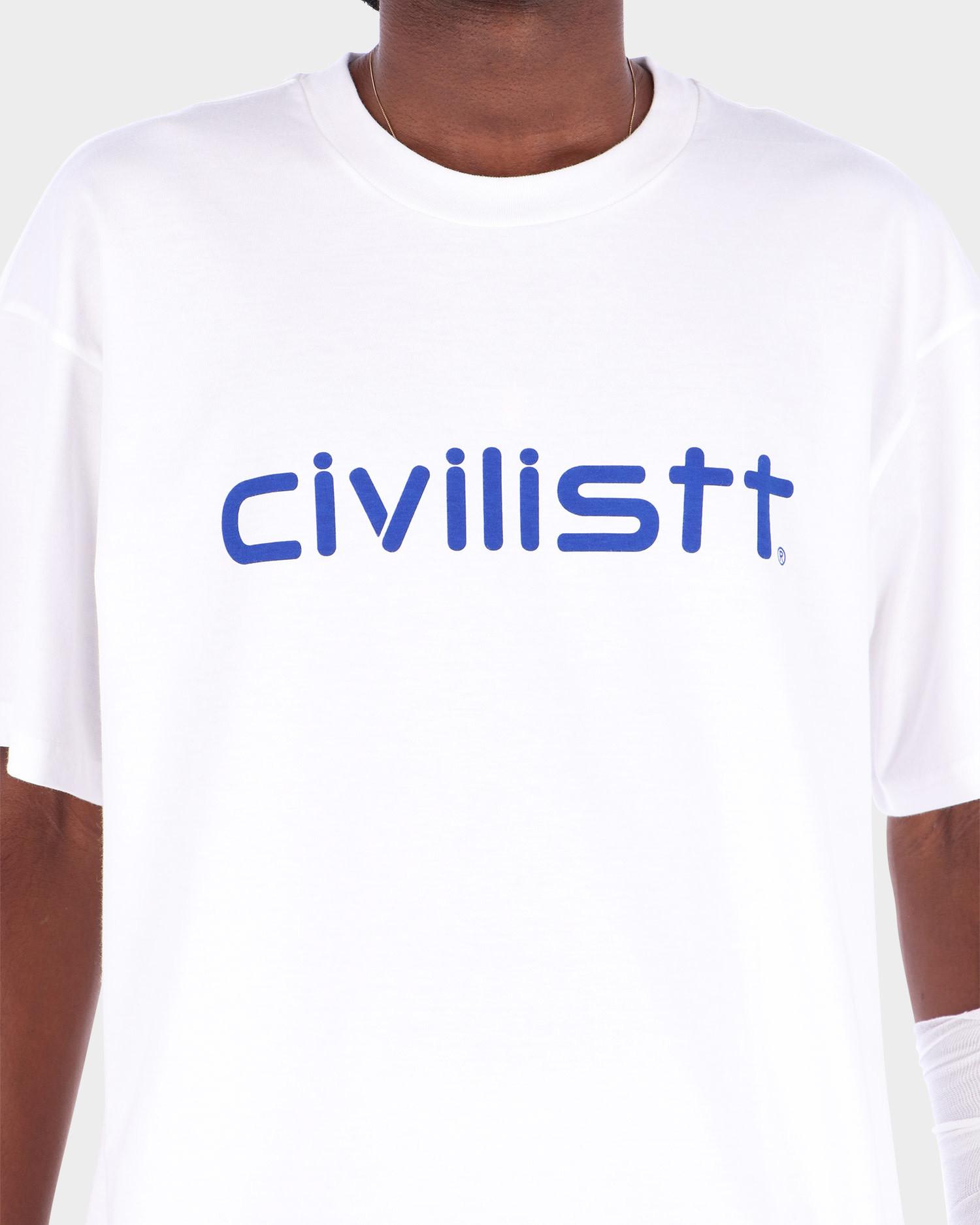Carhartt x Civilist Script T-Shirt White/Blue