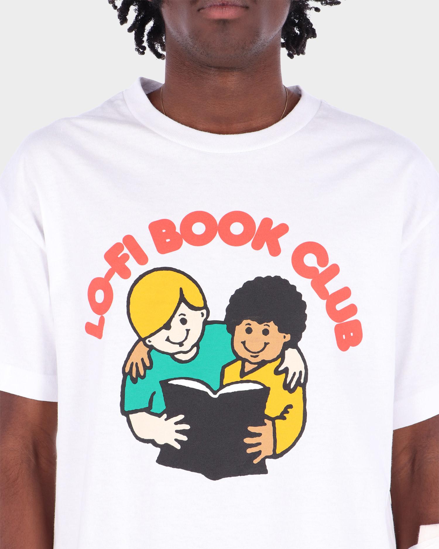 Lo-Fi Book Club Tee White