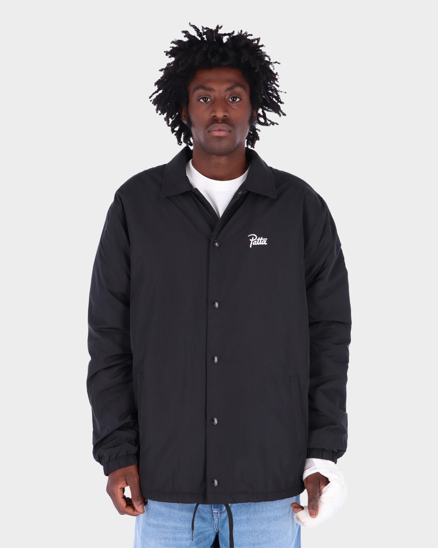 Patta Basic Sherpa Coach Jacket Black