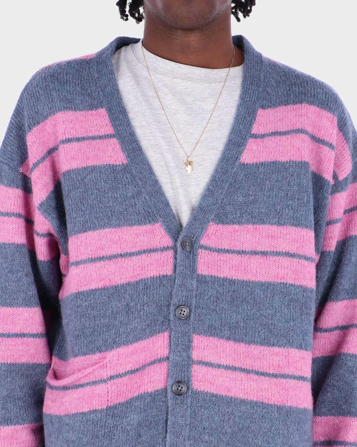 Pop Trading Co Captain Knitted Cardigan Zephyr