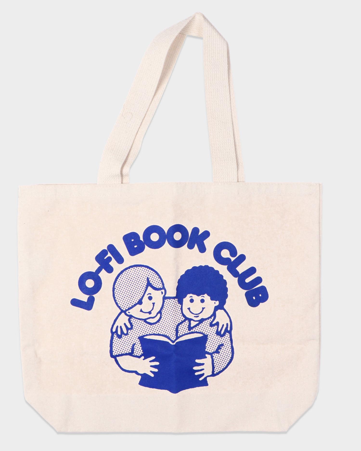 Lo-Fi Book Club Tote Bag Canvas