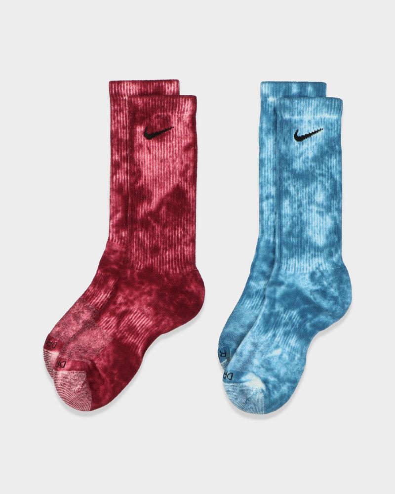 Nike Nike Tie-Dye Everyday Plus Socks Blue/Burgundy