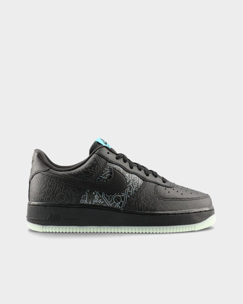 "Nike Nike Air Force 1 '07 ""SPACE JAM"" Black/Black-Light Blue Fury"