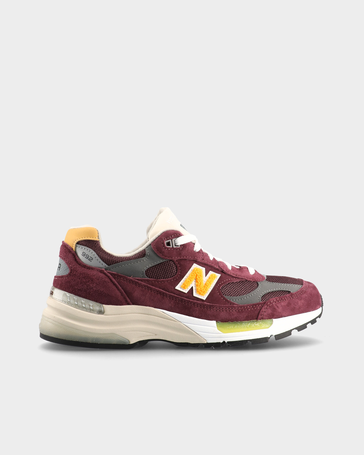 """New Balance M992CA """"Marathon"""" Burgundy/Yellow"""