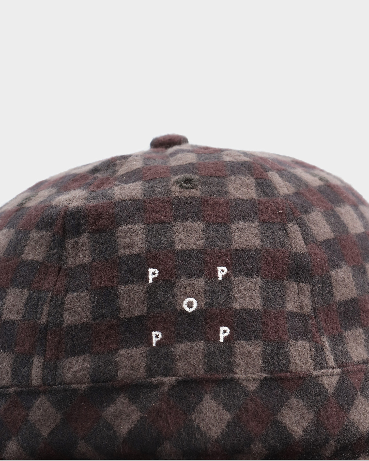 Pop Trading Co Bell Hat Plaid Black/Charcoal