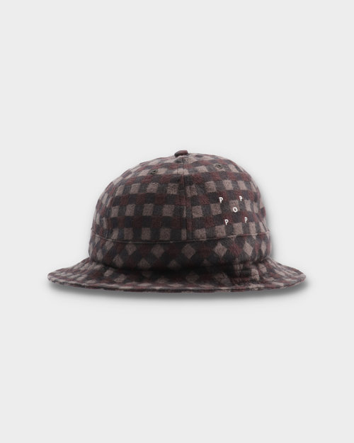 Pop Trading Co Pop Trading Co Bell Hat Plaid Black/Charcoal