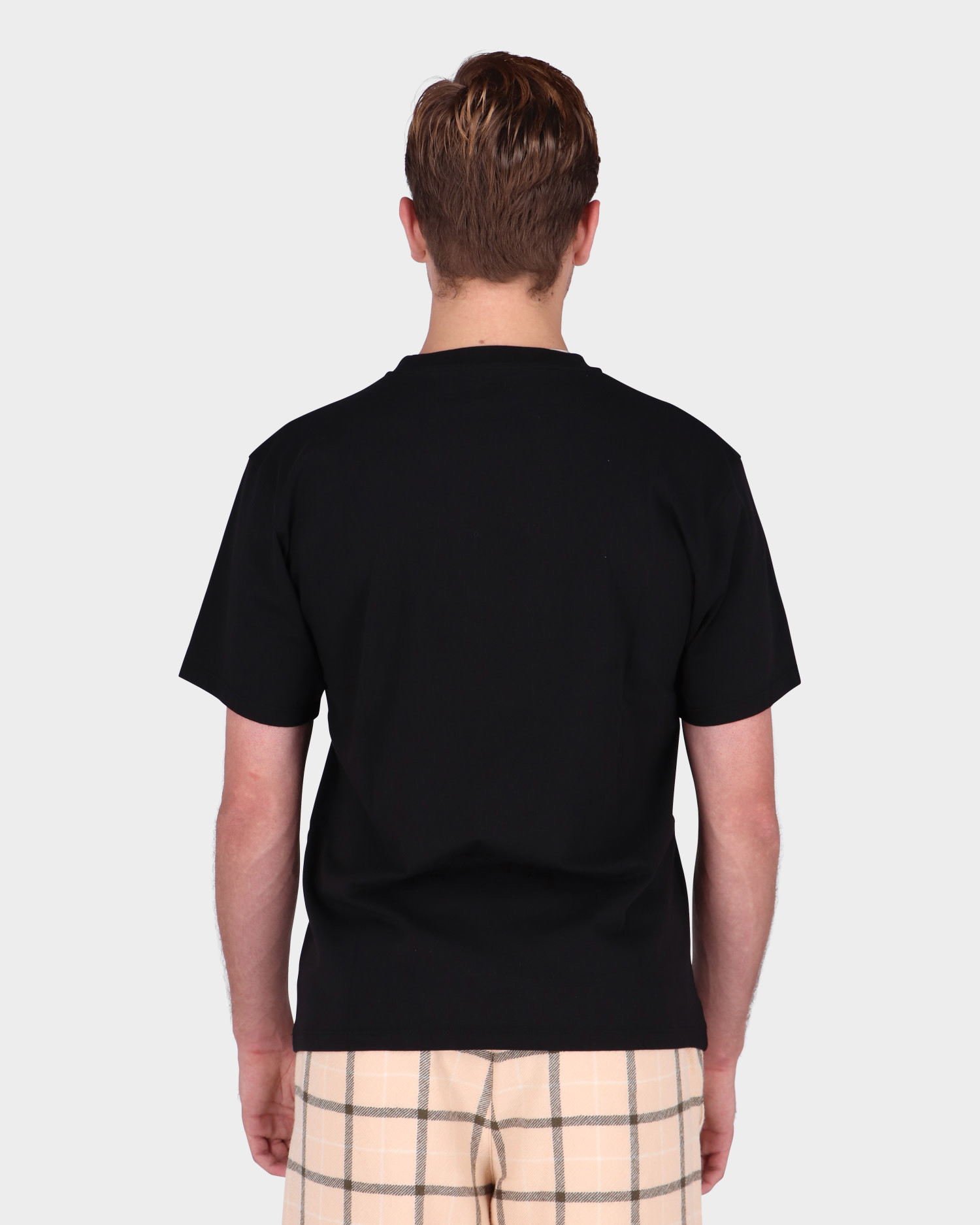 Paccbet Cotton Tiger Knitted T-Shirt Black