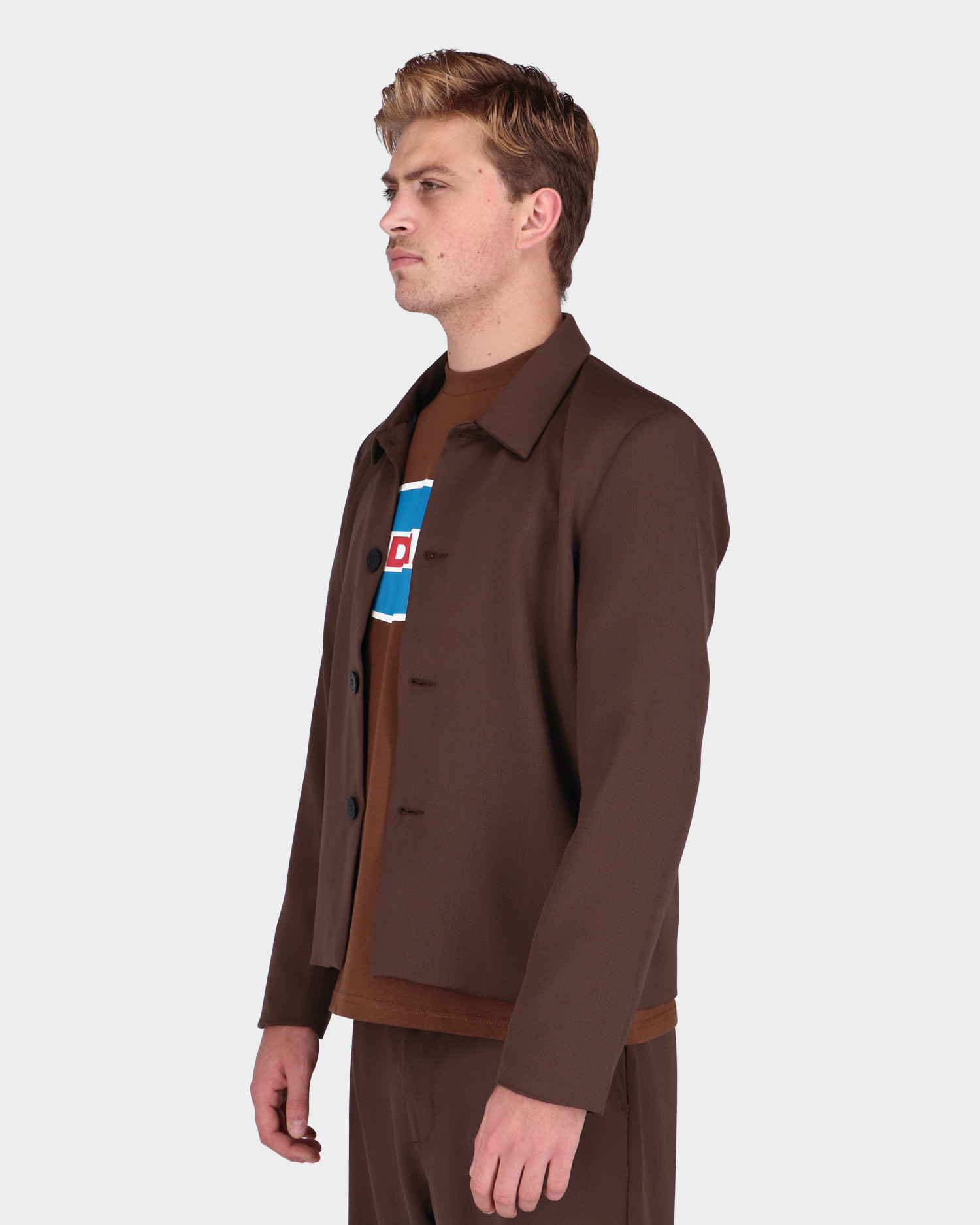 Lack Of Guidance Leo Jacket Brown