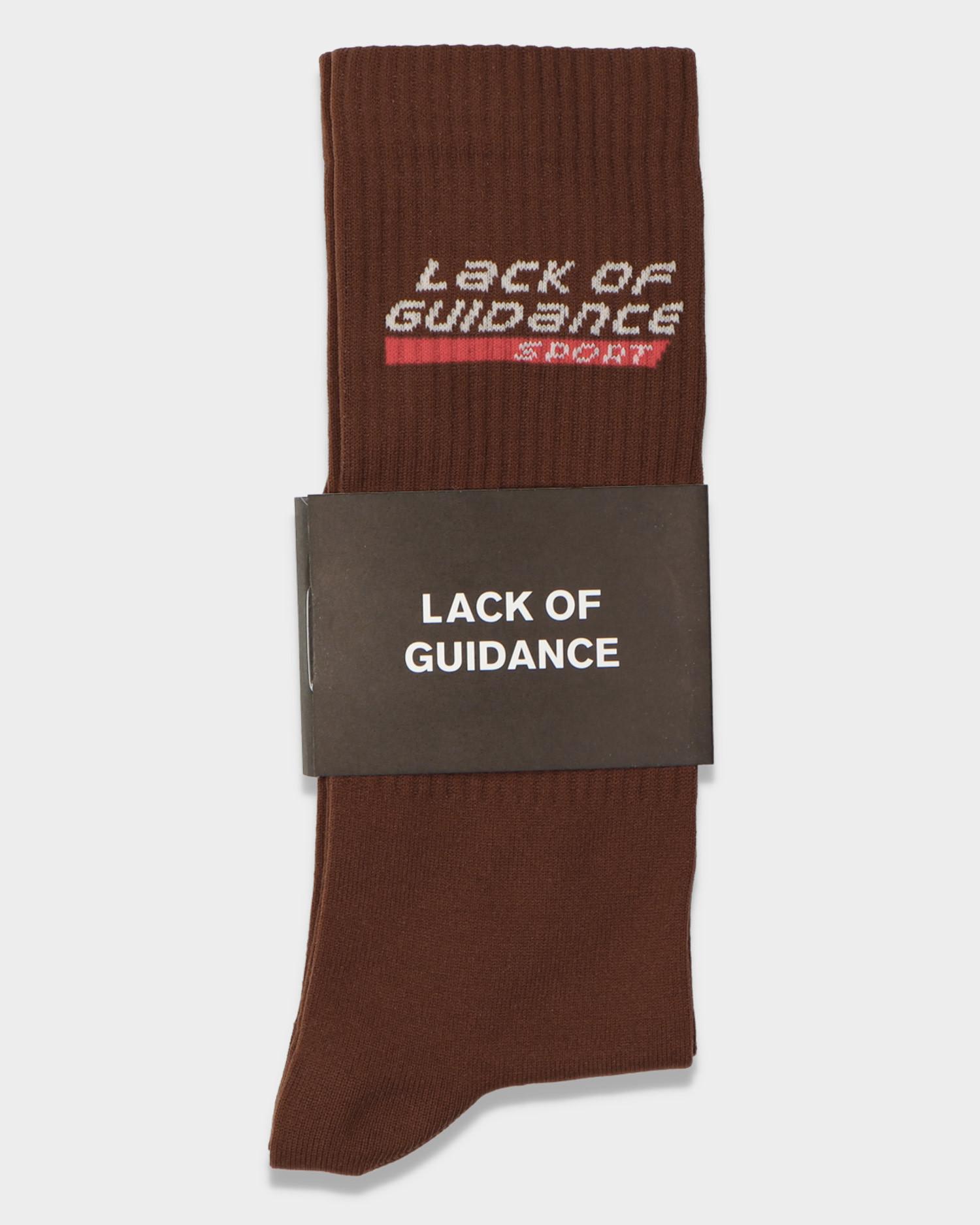 Lack Of Guidance Sport Socks Brown