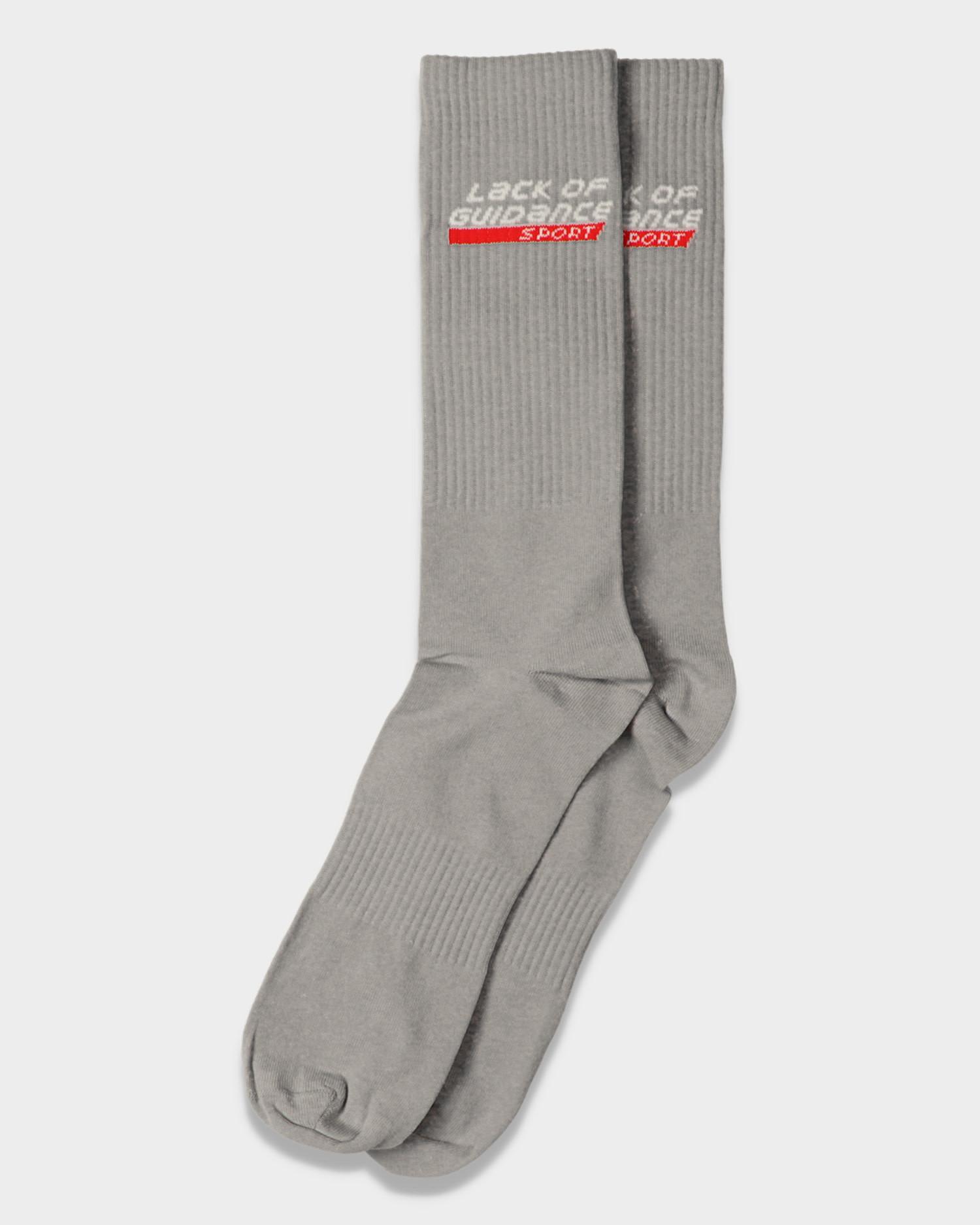 Lack Of Guidance Sport Socks Grey