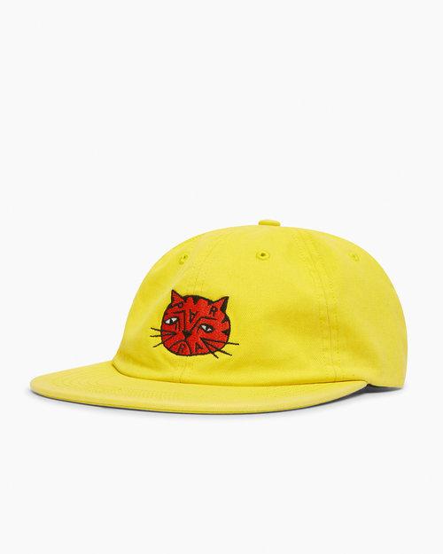 Parra Parra Sad Cat 6 Panel Hat Yellow
