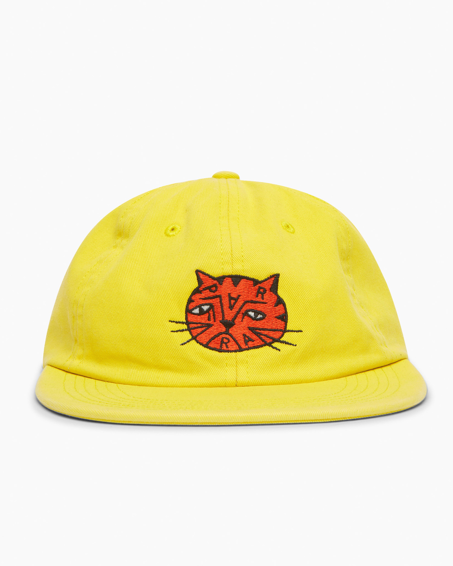 Parra Sad Cat 6 Panel Hat Yellow