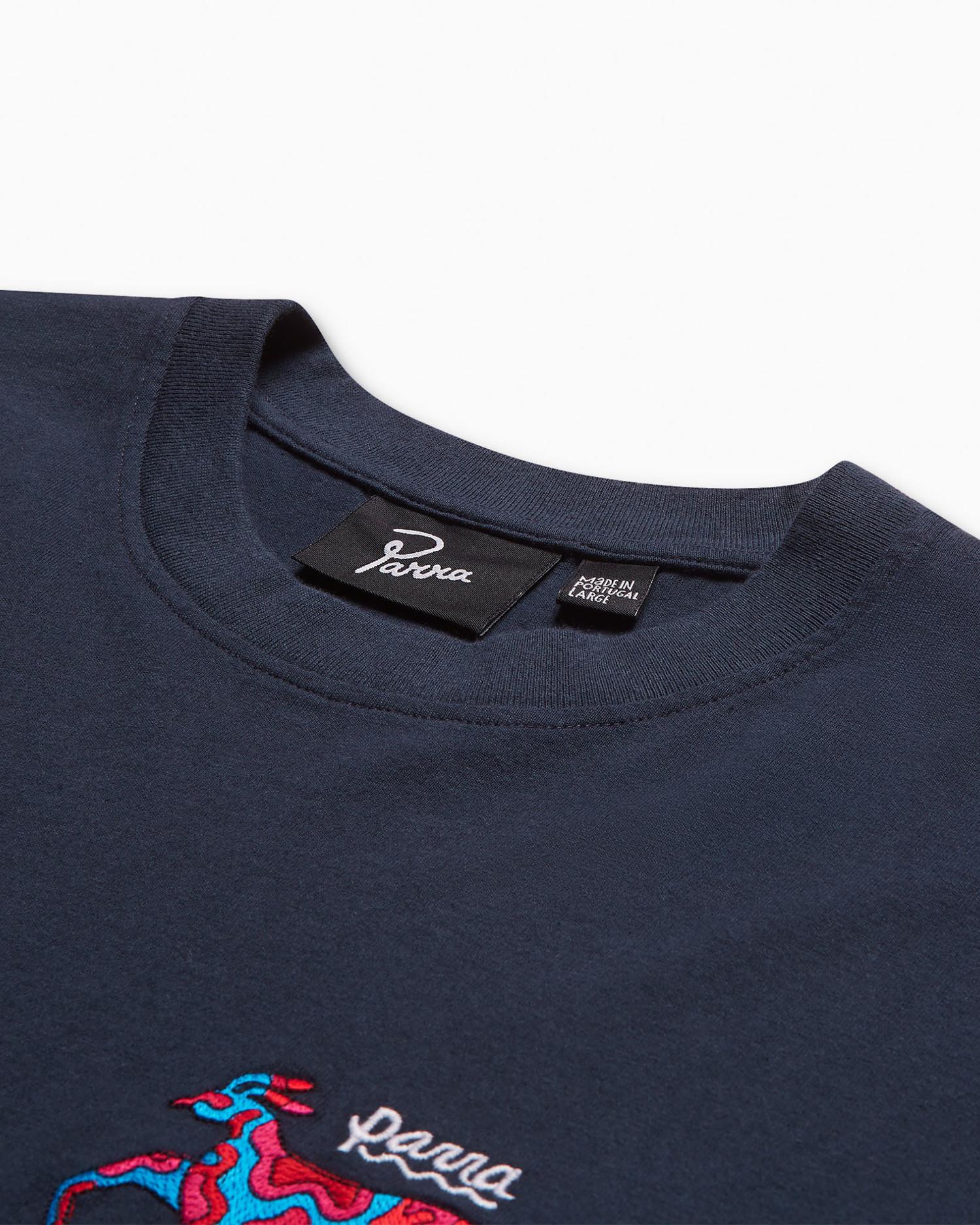 Parra Dog Race T-shirt Navy