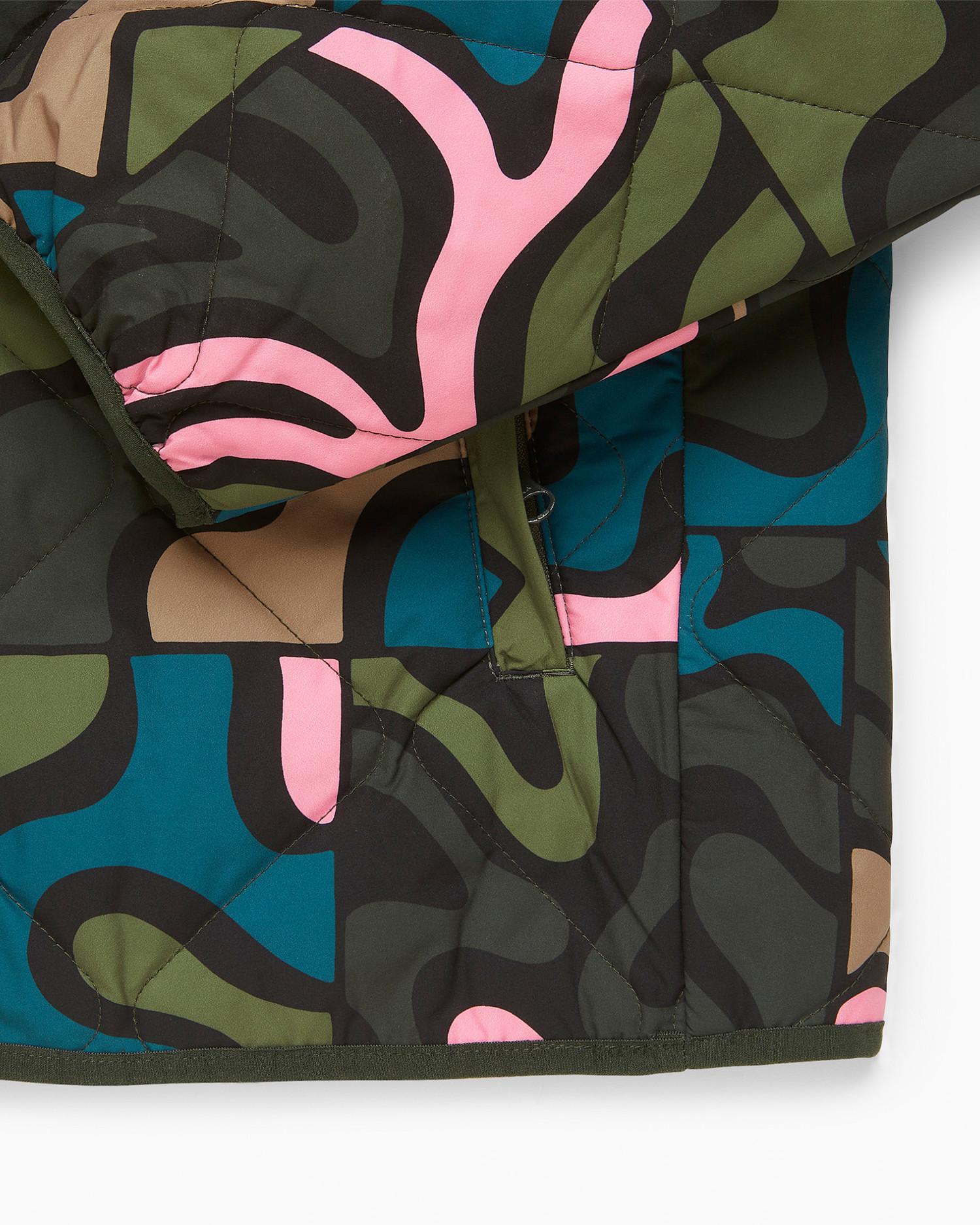 Parra Gem Stone Pattern Quilted Jacket Multi