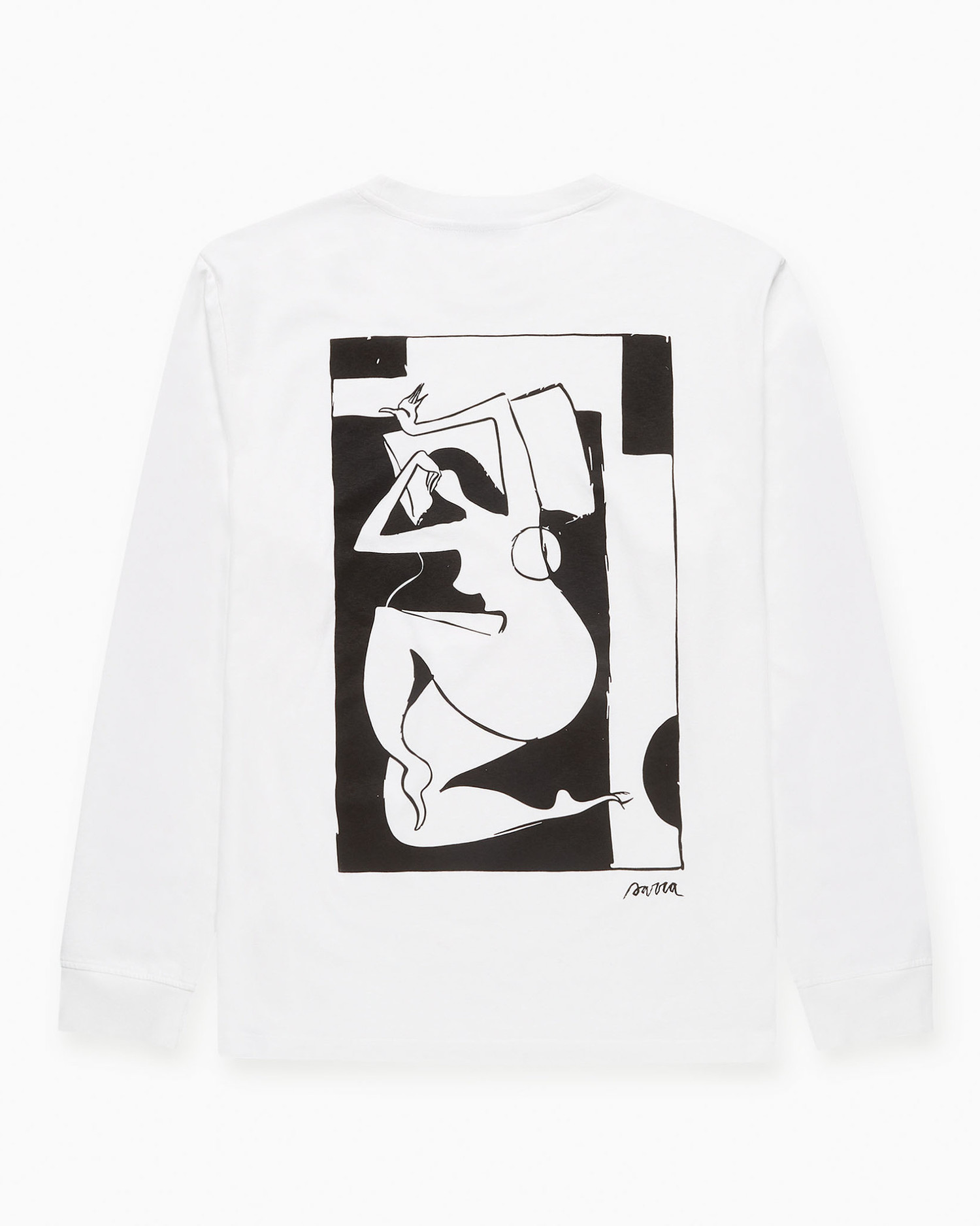 Parra Rest Day Long Sleeve T-shirt White