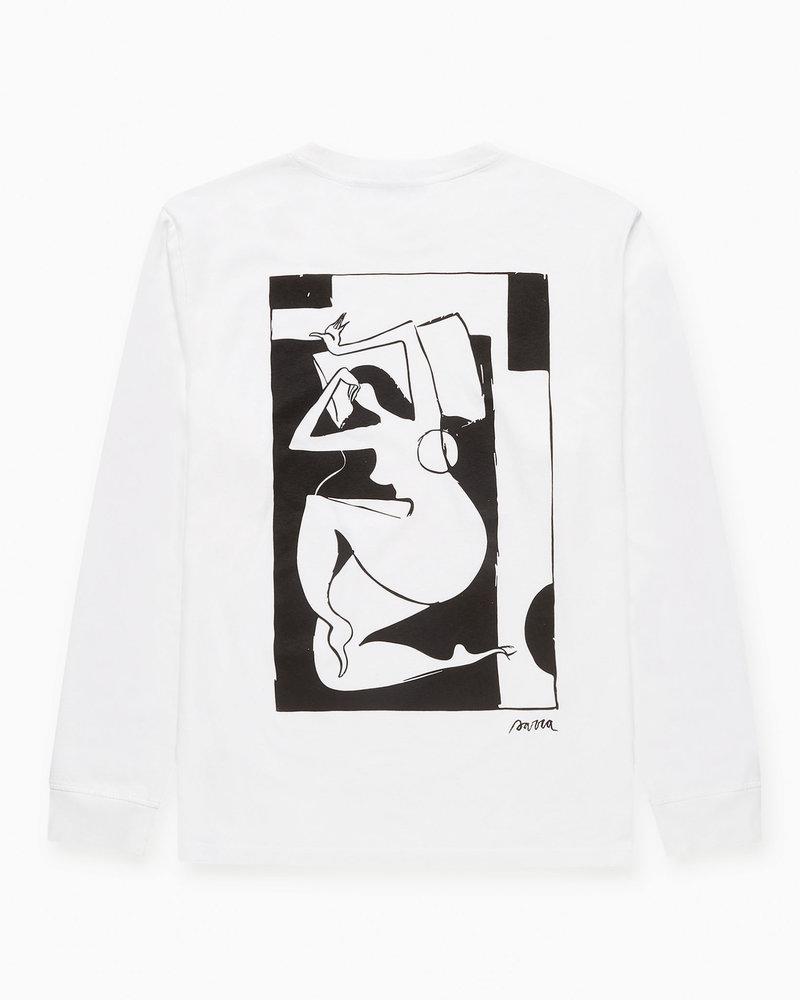 Parra Parra Rest Day Long Sleeve T-shirt White