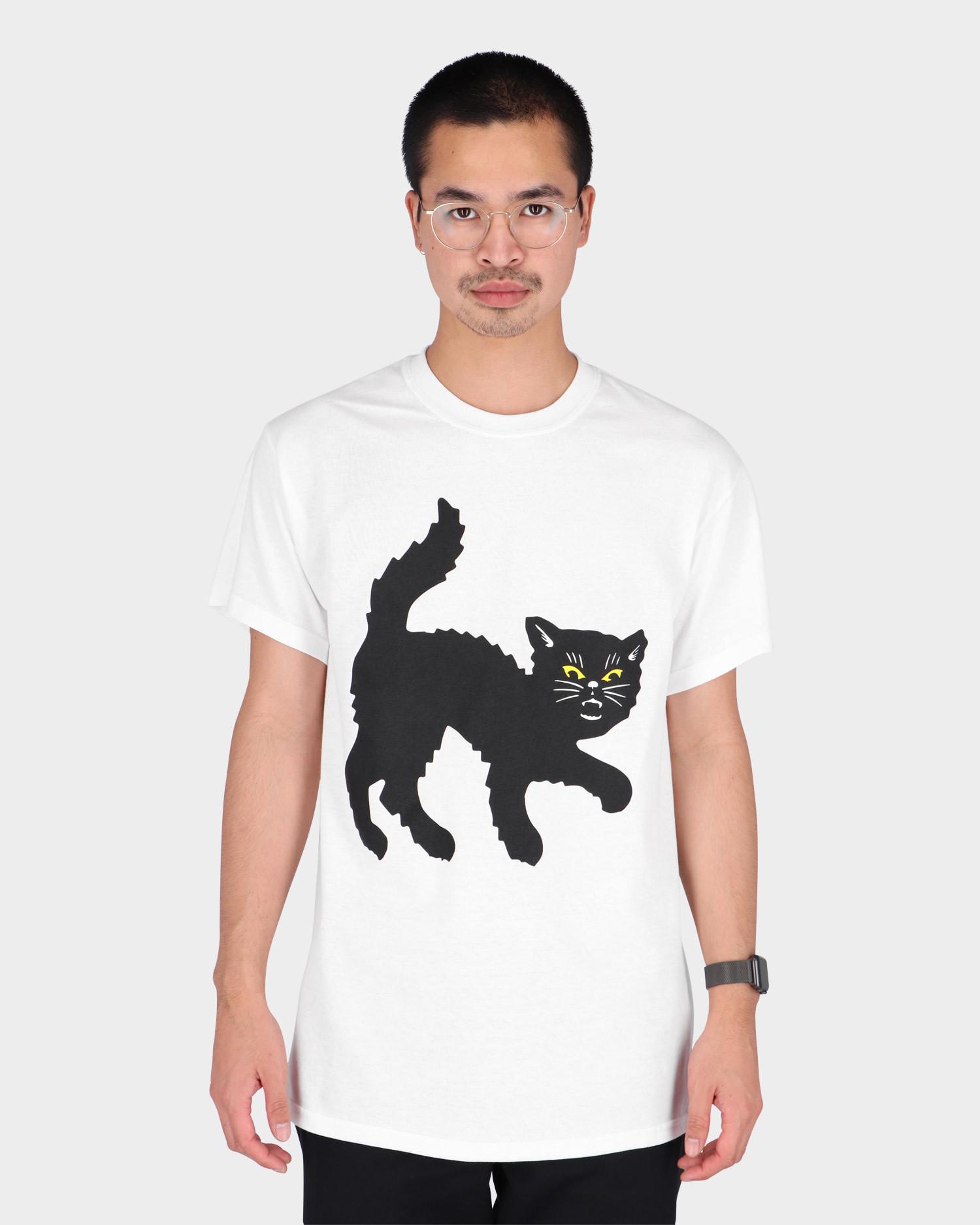 Call me 917 Black Cat T-Shirt White