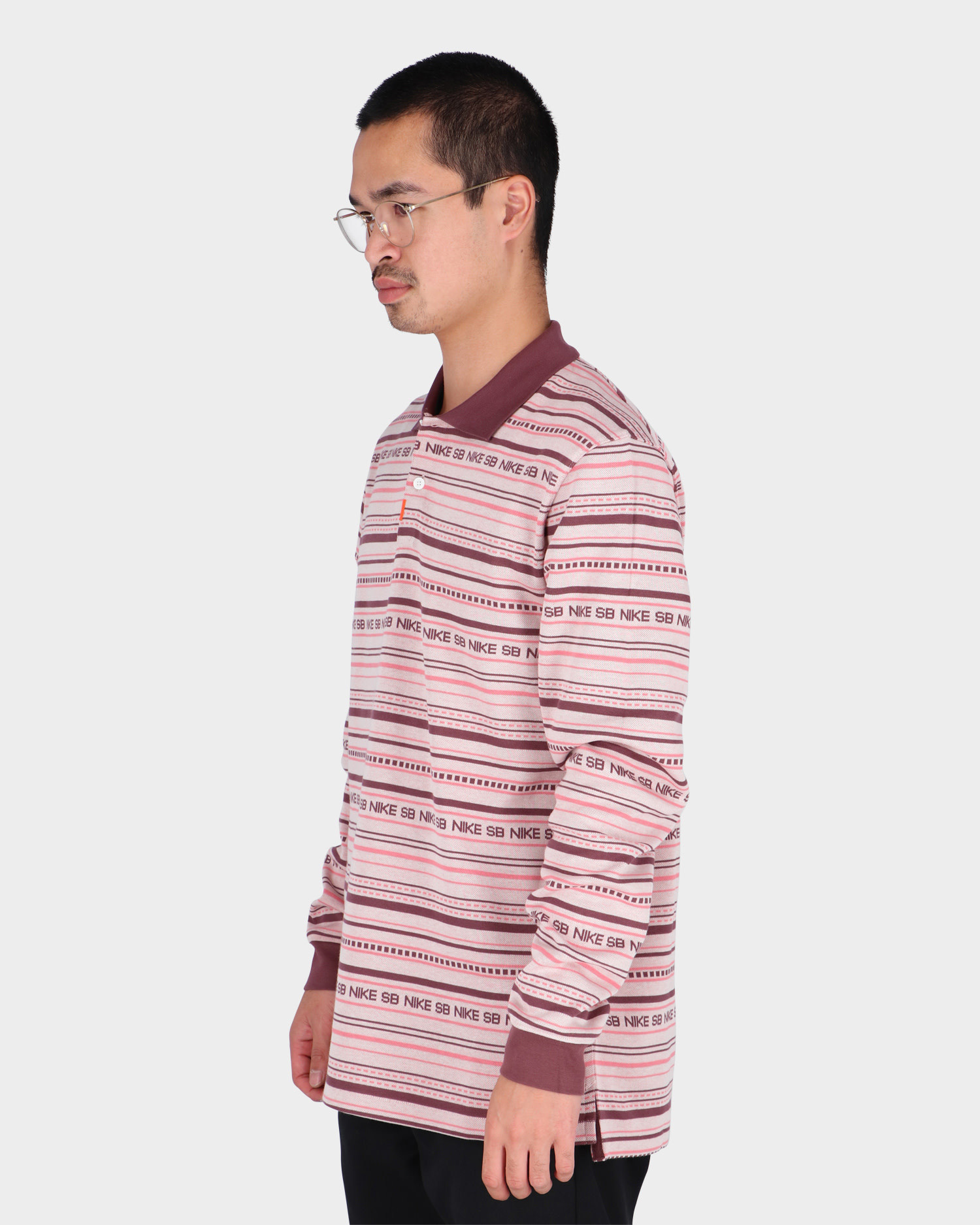Nike SB Polo Pink Oxford/Dark Wine/Pink Salt