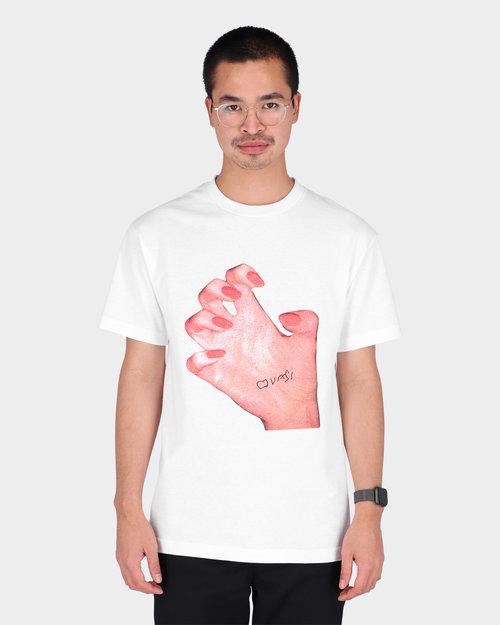 Quasi Quasi Skateboards Mr. Hand Crme T-Shirt White