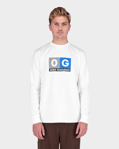 Lack Of Guidance Lack Of Guidance Pippo Long sleeve T-shirt White