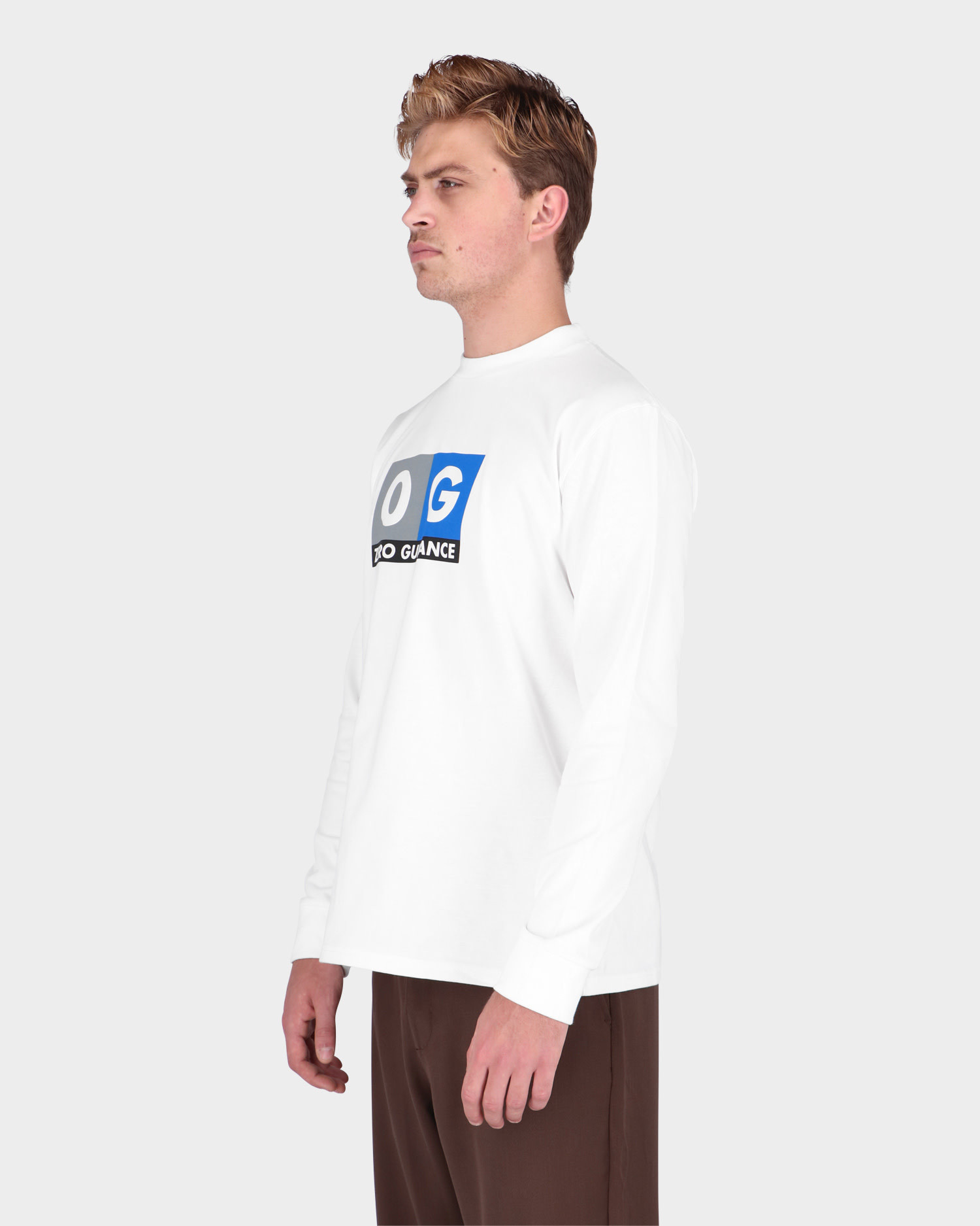 Lack Of Guidance Pippo Long sleeve T-shirt White