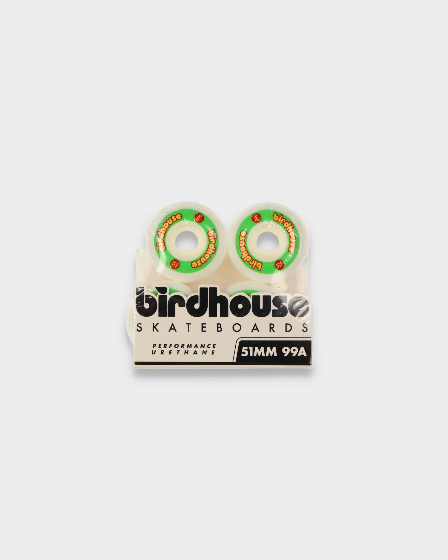 Birdhouse Wheels Logo Rasta 99A 51 MM