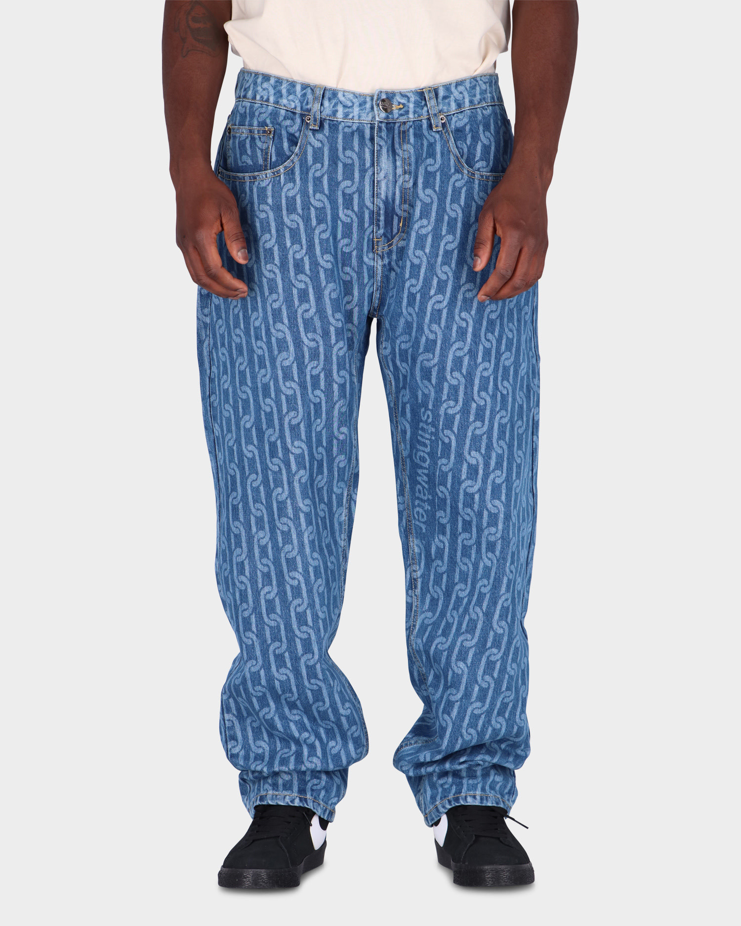 Stingwater Chain Jeans Blue