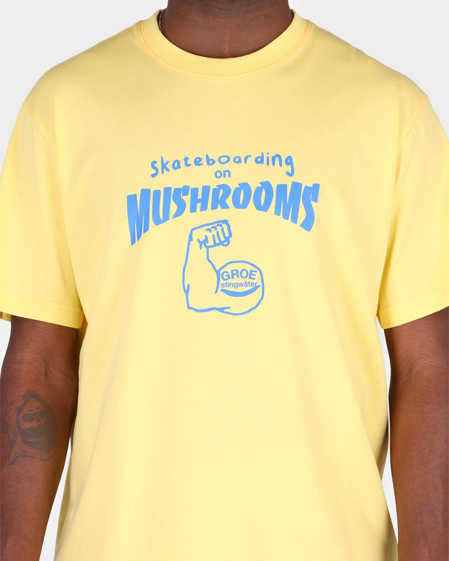 Stingwater Skateboarding On Mushrooms T-Shirt Vegan Butter
