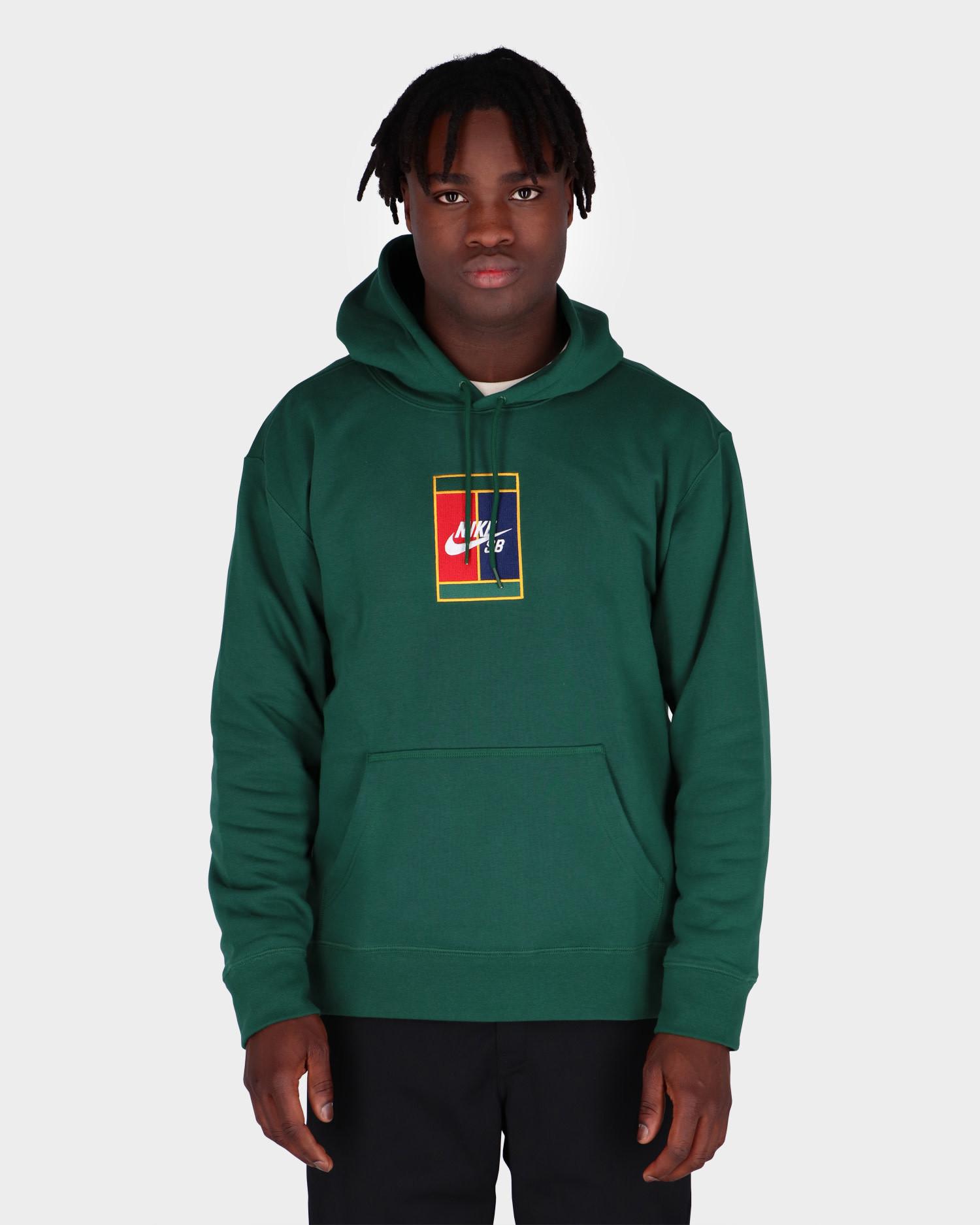Nike SB Court Logo Hoodie Gorge Green/Midnight Navy