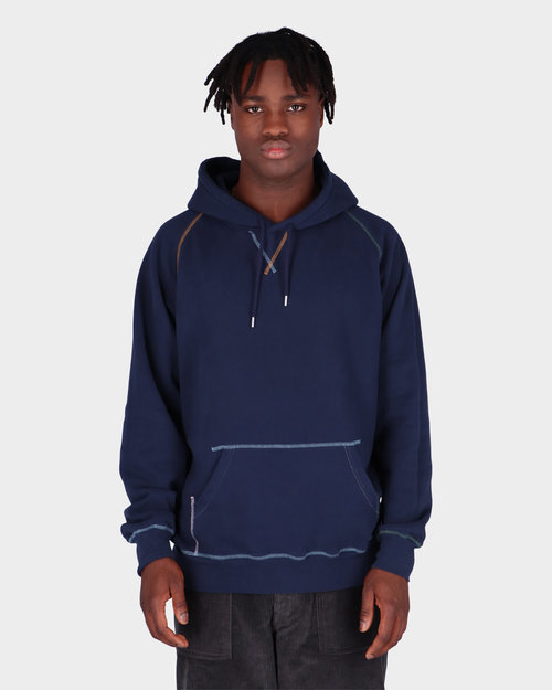 Pop Trading Co Pop Trading Co Logo Embroidered Hooded SweatNavy/Multi