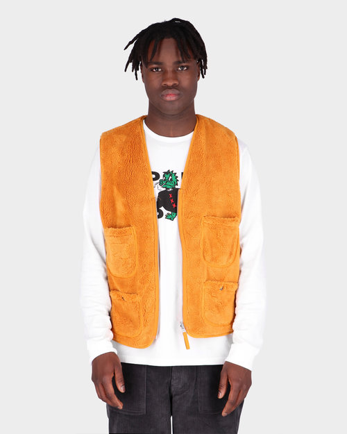 Pop Trading Co Pop Trading Co Harold Reversible Vest Spruce Yellow