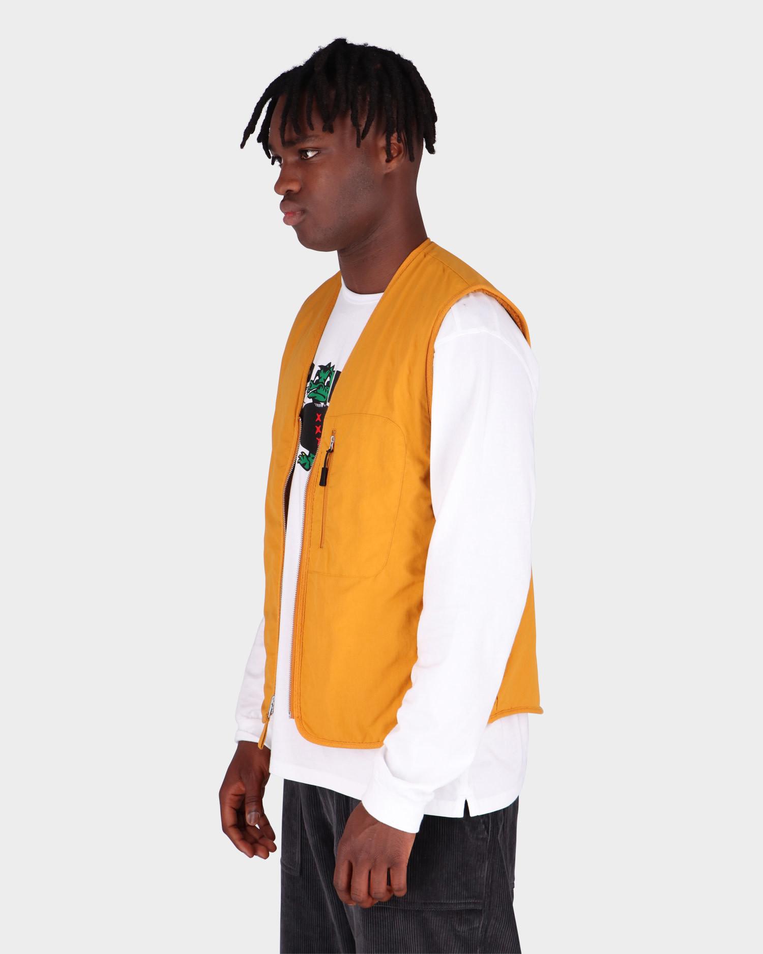 Pop Trading Co Harold Reversible Vest Spruce Yellow