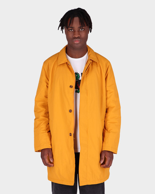 Pop Trading Co Pop Trading Co Padded Trench Coat Spruce Yellow