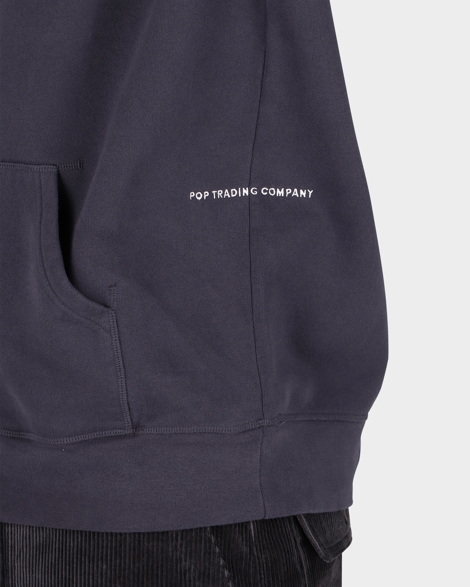 Pop Trading Co Arch Hooded Sweat Anthracite
