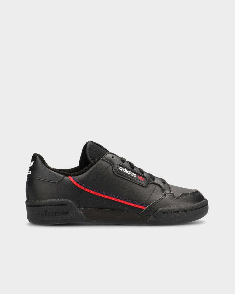 Adidas adidas Originals Continental 80 J Core Black/Scarlet Red