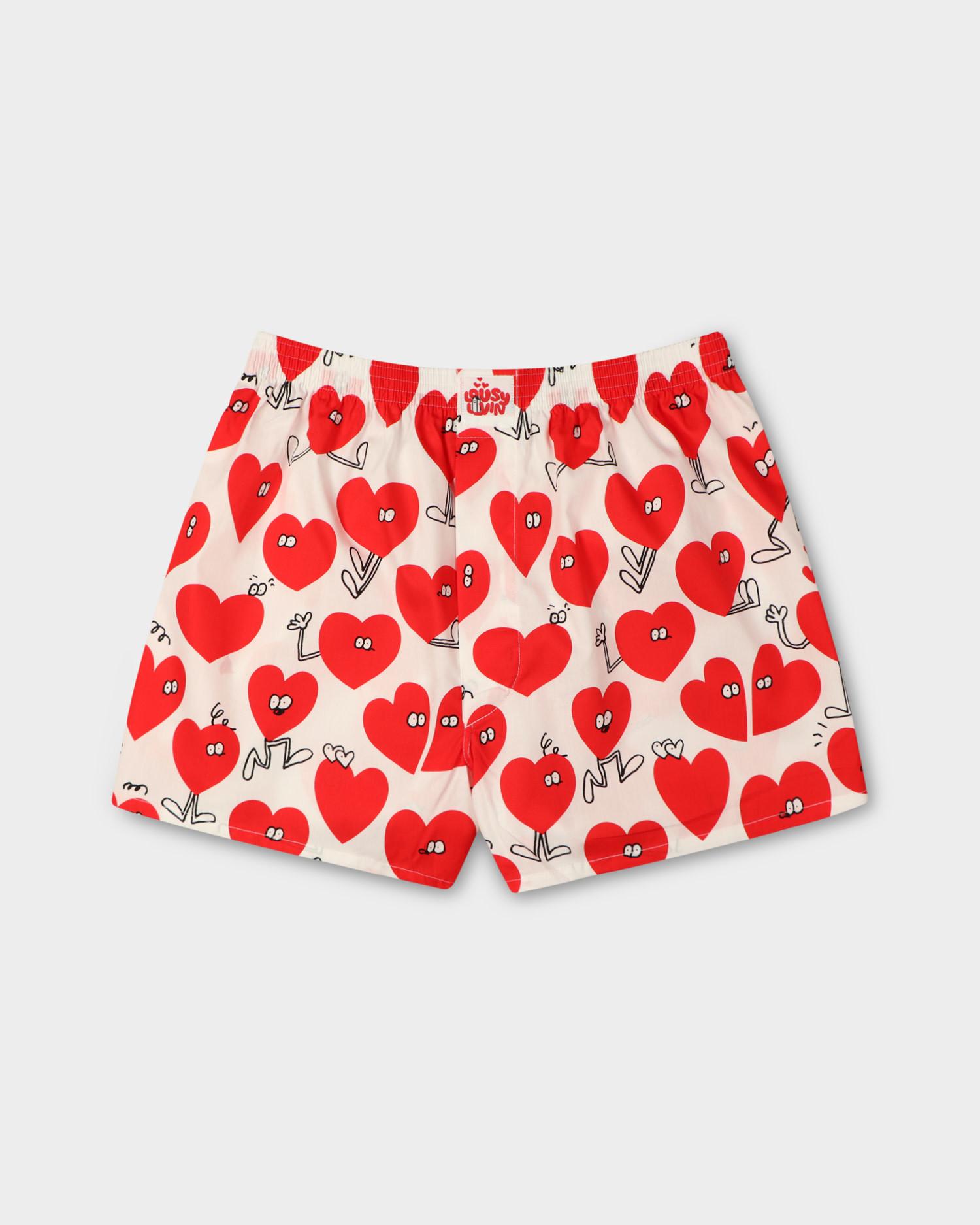 "Lousy Livin ""Valentines"" Boxershort White"