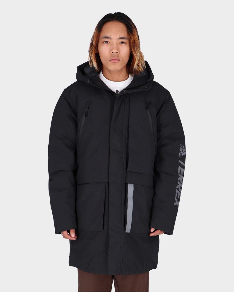 Adidas Adidas Mid Down Jacket Black/Grey Four