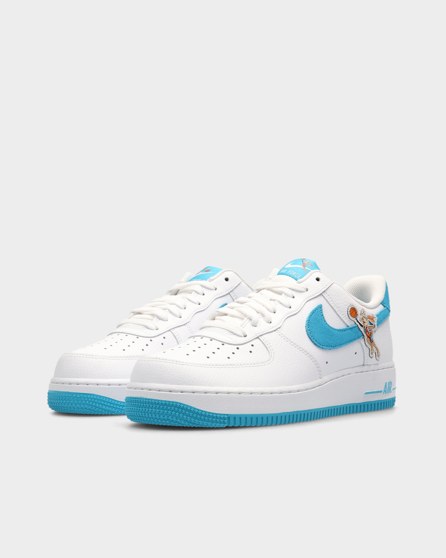 "Nike Air Force 1 '07 ""SPACE JAM"" White/Light Blue Fury-White"