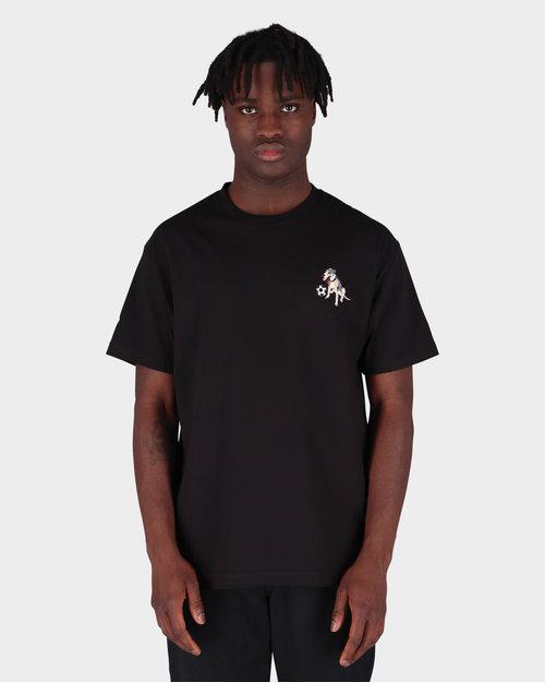 Passport Passport Bobby Embroidery T-shirt Black