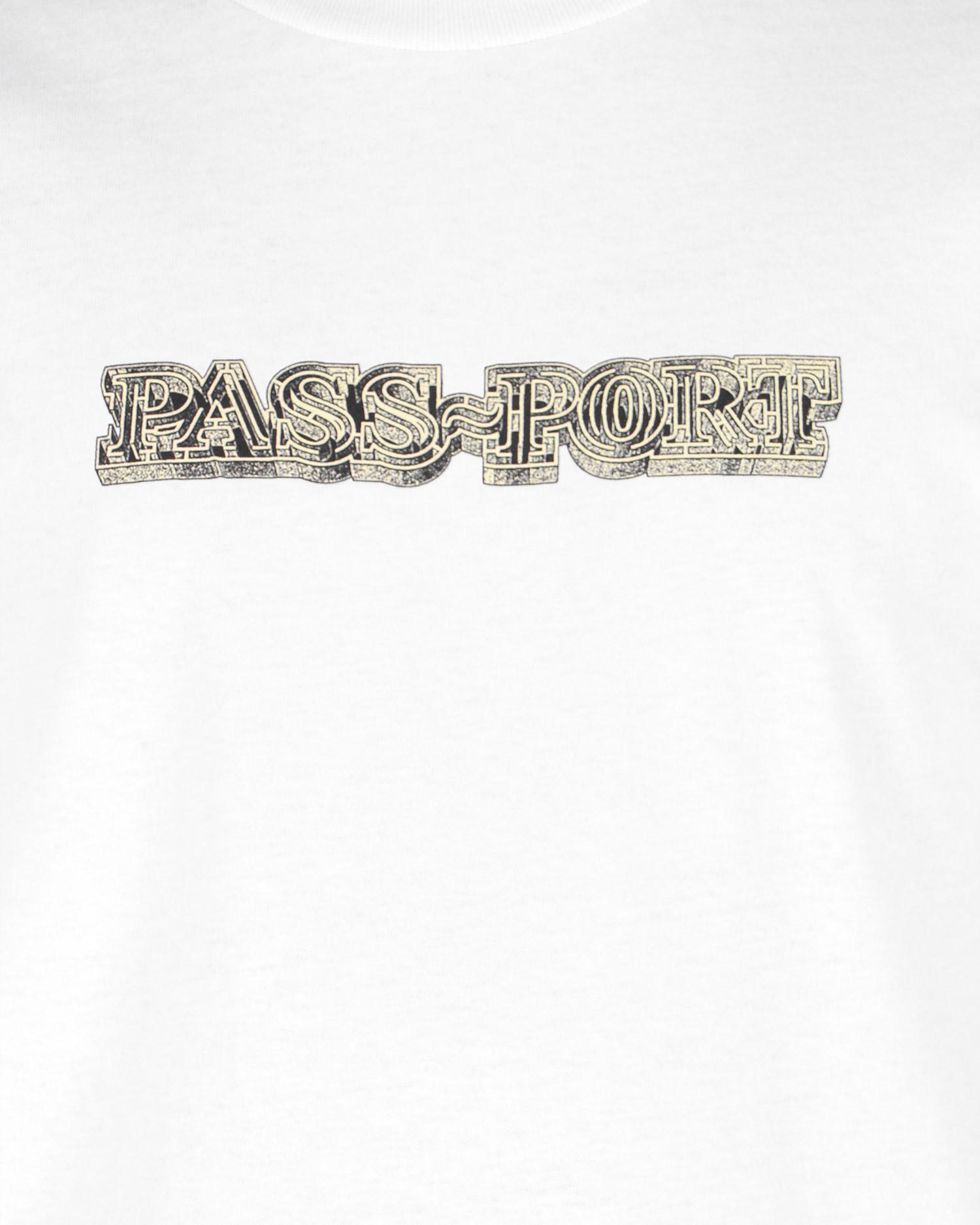 Passport Head Maze T-shirt White
