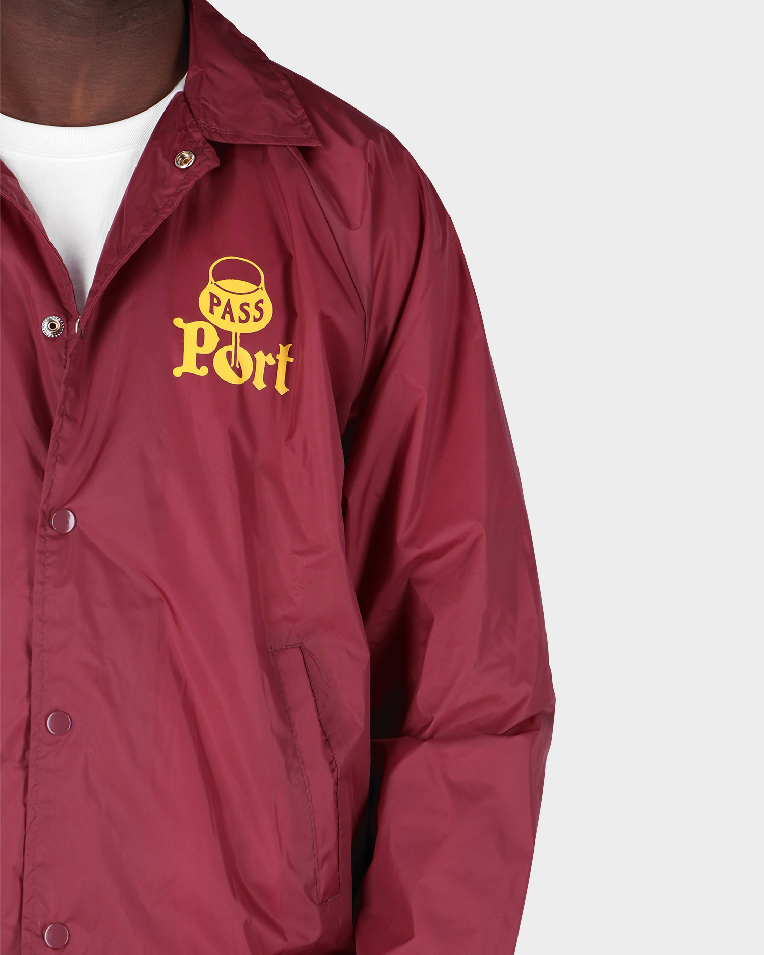Passport Port Coach Jacket Maroon