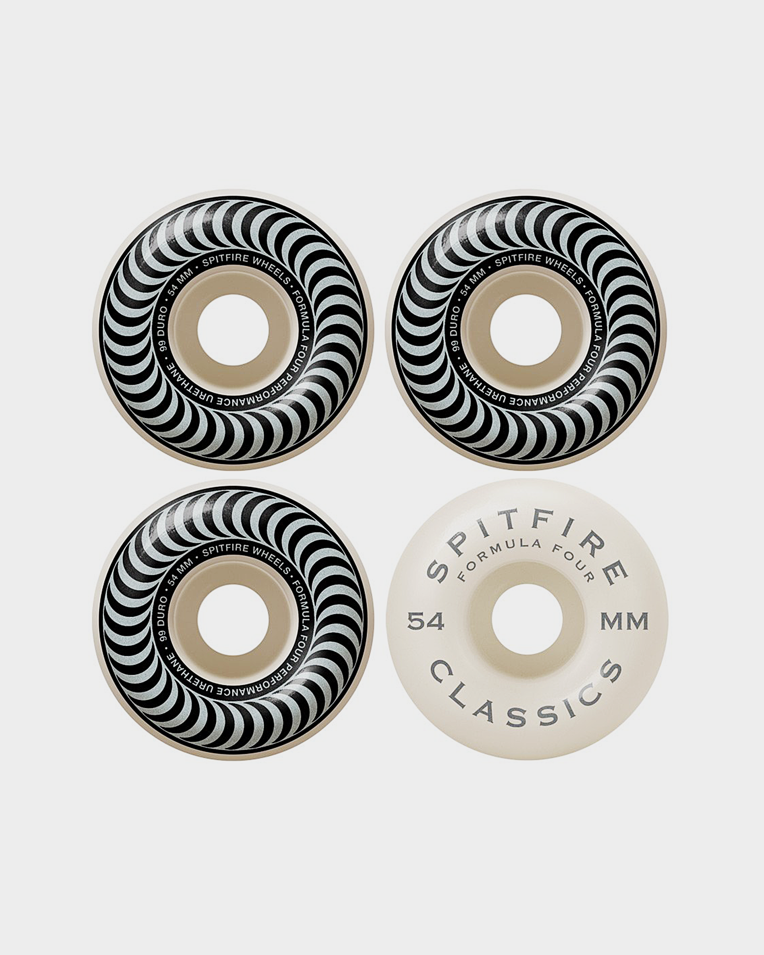 Spitfire Wheels F4 99 Classic Silver 54mm