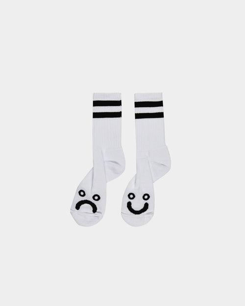 Polar Polar Happy Sad Socks White